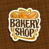 Logotipo do vetor para a loja da padaria ilustração stock
