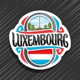 Logotipo do vetor para Luxemburgo ilustração stock