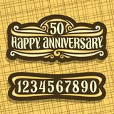 Logotipo do vetor para o aniversário Foto de Stock Royalty Free