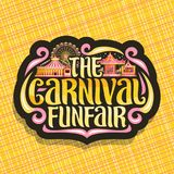 Logotipo do vetor para o Funfair do carnaval Fotografia de Stock Royalty Free