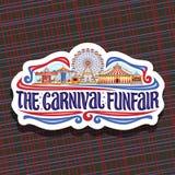 Logotipo do vetor para o Funfair do carnaval Fotos de Stock