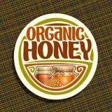 Logotipo do vetor para o mel orgânico Foto de Stock Royalty Free