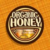 Logotipo do vetor para o mel orgânico Foto de Stock