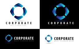 Logotipo do vetor para o negócio Imagens de Stock Royalty Free