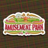 Logotipo do vetor para o parque de diversões Imagem de Stock
