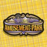 Logotipo do vetor para o parque de diversões Imagem de Stock Royalty Free