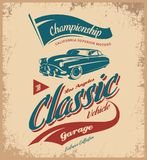 Logotipo do vetor do veículo do vintage isolado no fundo claro Imagem de Stock Royalty Free