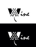 Logotipo do vinho ilustração stock