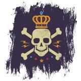 Logotipo do vintage com crânio ilustração stock