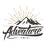 Logotipo do vintage da aventura ilustração stock