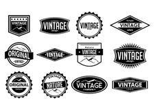 Logotipo do vintage e projeto do vetor Imagem de Stock