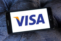 Logotipo do visto Imagens de Stock Royalty Free