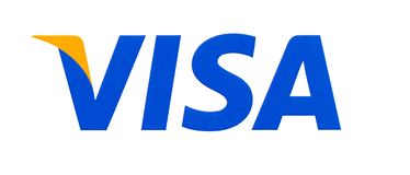 Logotipo do visto impresso no papel foto de stock royalty free