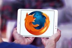 Logotipo do web browser de Firefox imagens de stock