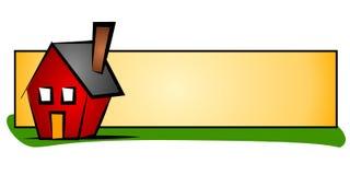 Logotipo do Web da casa dos bens imobiliários Fotos de Stock