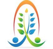 Logotipo do Wellness ilustração royalty free