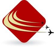 Logotipo dos aviões ilustração do vetor