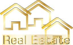 Logotipo dos bens imobiliários Fotos de Stock Royalty Free