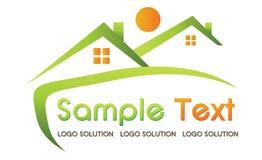 Logotipo dos bens imobiliários Imagem de Stock