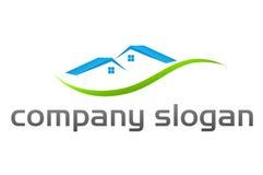 Logotipo dos bens imobiliários Fotos de Stock