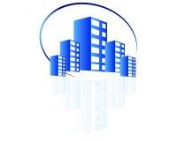 Logotipo dos bens imobiliários ilustração do vetor