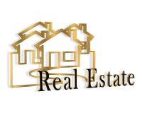 logotipo dos bens imobiliários 3D ilustração do vetor