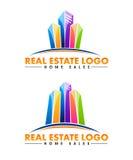Logotipo dos bens imobiliários Fotografia de Stock Royalty Free