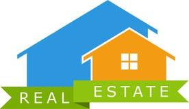 Logotipo dos bens imobiliários Foto de Stock Royalty Free