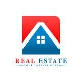 Logotipo dos bens imobiliários Foto de Stock