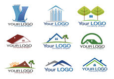 Logotipo dos bens imobiliários ajustado/eps8 ilustração royalty free