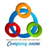 logotipo dos círculos 3D coloridos Fotografia de Stock Royalty Free