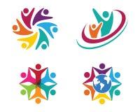 Logotipo dos cuidados comunitários Fotos de Stock