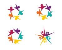 Logotipo dos cuidados comunitários Imagens de Stock Royalty Free