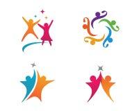 Logotipo dos cuidados comunitários ilustração royalty free