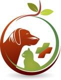 Logotipo dos cuidados dos animais de estimação da saúde Imagem de Stock Royalty Free