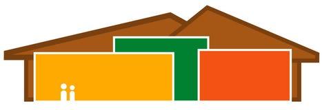Logotipo dos edifícios Fotos de Stock
