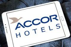 Logotipo dos hotéis de Accor foto de stock royalty free