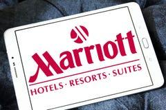 Logotipo dos hotéis e dos recursos de Marriott fotografia de stock
