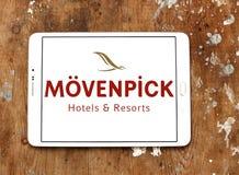 Logotipo dos hotéis e dos recursos de Mövenpick foto de stock