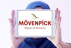 Logotipo dos hotéis e dos recursos de Mövenpick imagem de stock