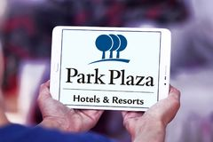Logotipo dos hotéis & dos recursos da plaza do parque Fotografia de Stock Royalty Free