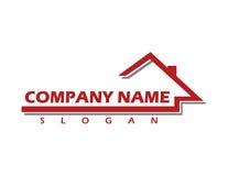 Logotipo 2 dos imóveis comerciais Foto de Stock