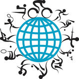 Logotipo dos jogos Imagens de Stock Royalty Free