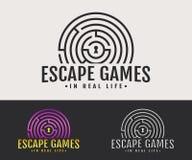 logotipo dos jogos do escape da Real-vida ilustração royalty free