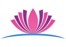 Logotipo dos lótus ilustração do vetor