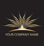 Logotipo dos lótus do ouro Imagens de Stock