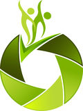 Logotipo dos pares do zoom do obturador ilustração do vetor