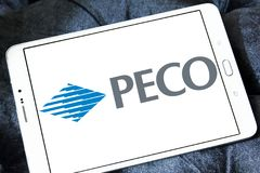 Logotipo dos PECO Energia Empresa imagem de stock