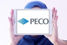 Logotipo dos PECO Energia Empresa fotografia de stock royalty free