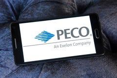 Logotipo dos PECO Energia Empresa imagens de stock